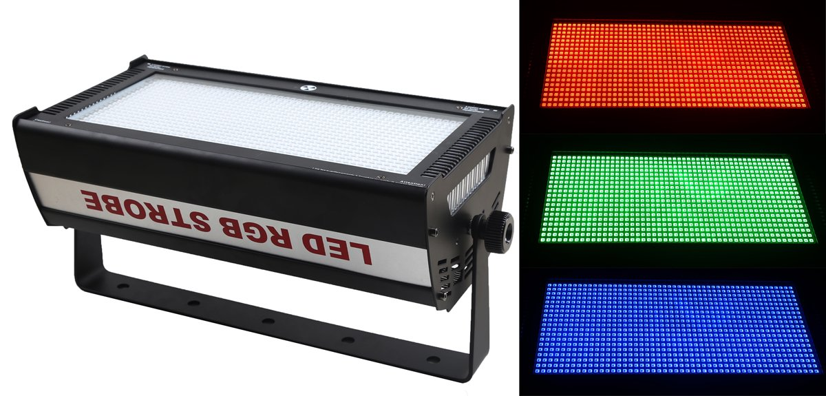WecanLight DMX Led Atomic Strobe,RGB 3IN1 Long-Life 90-240V,50-60Hz 1000W,Use For Disco, Ballroom, KTV, Bar ,Club, Party, Wedding