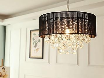 Saint Mossi Moderne K9 Kristall Regentropfen Kronleuchter Beleuchtung  Unterputz LED Deckenleuchte Pendelleuchte für Esszimmer Badezimmer  Schlafzimmer ...