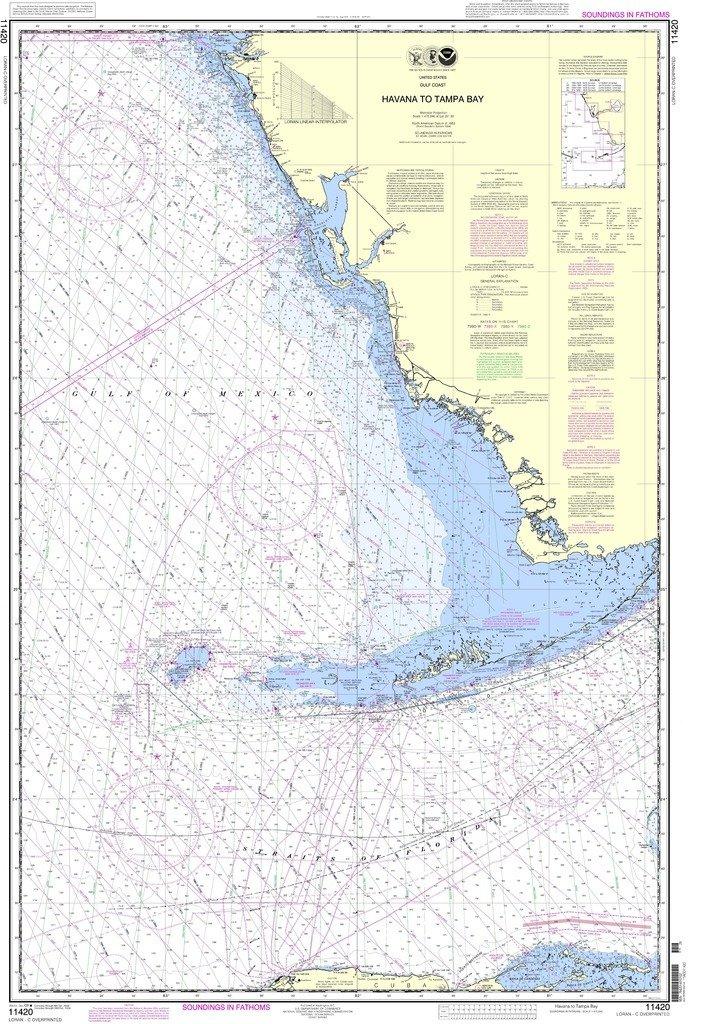 NOAA gráfico 11420: La Habana a Tampa Bay: Amazon.es ...