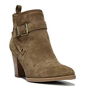 Franco Sarto Women's Delancy Ankle Boot,Desert Khaki Velour Suede,US 10 W