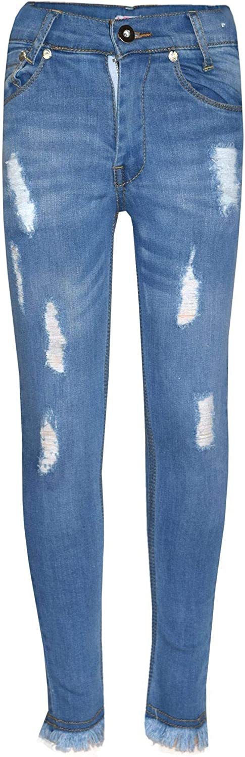 A2Z 4 Kids/® Girls Stretchy Jeans Kids Ripped Denim Pants Fashion Trousers Jeggings Age 5 6 7 8 9 10 11 12 13 Years