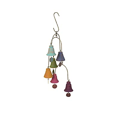 "Ancient Graffiti AG-1514 Bell Mobile Hangings, 12 by 21"": Garden & Outdoor"