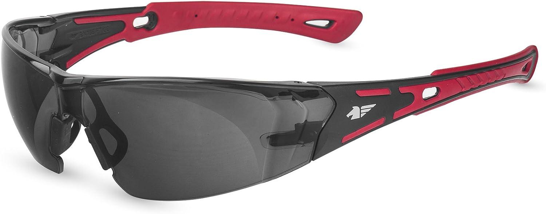 PEGASO 103.02 - Gafas proteccion gama SOLAR SUN modelo BLACK&RED Lente PC Solar Antivaho, L