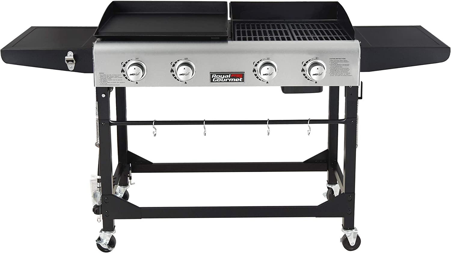 Royal Gourmet Portable Grill and Griddle Combo