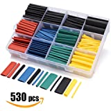 Sopoby 530pcs Heat Shrink Tubings, Wire Wrap Cable Sleeve Sets, Electrical Insulation Tubes, 5 Colors 8 Sizes