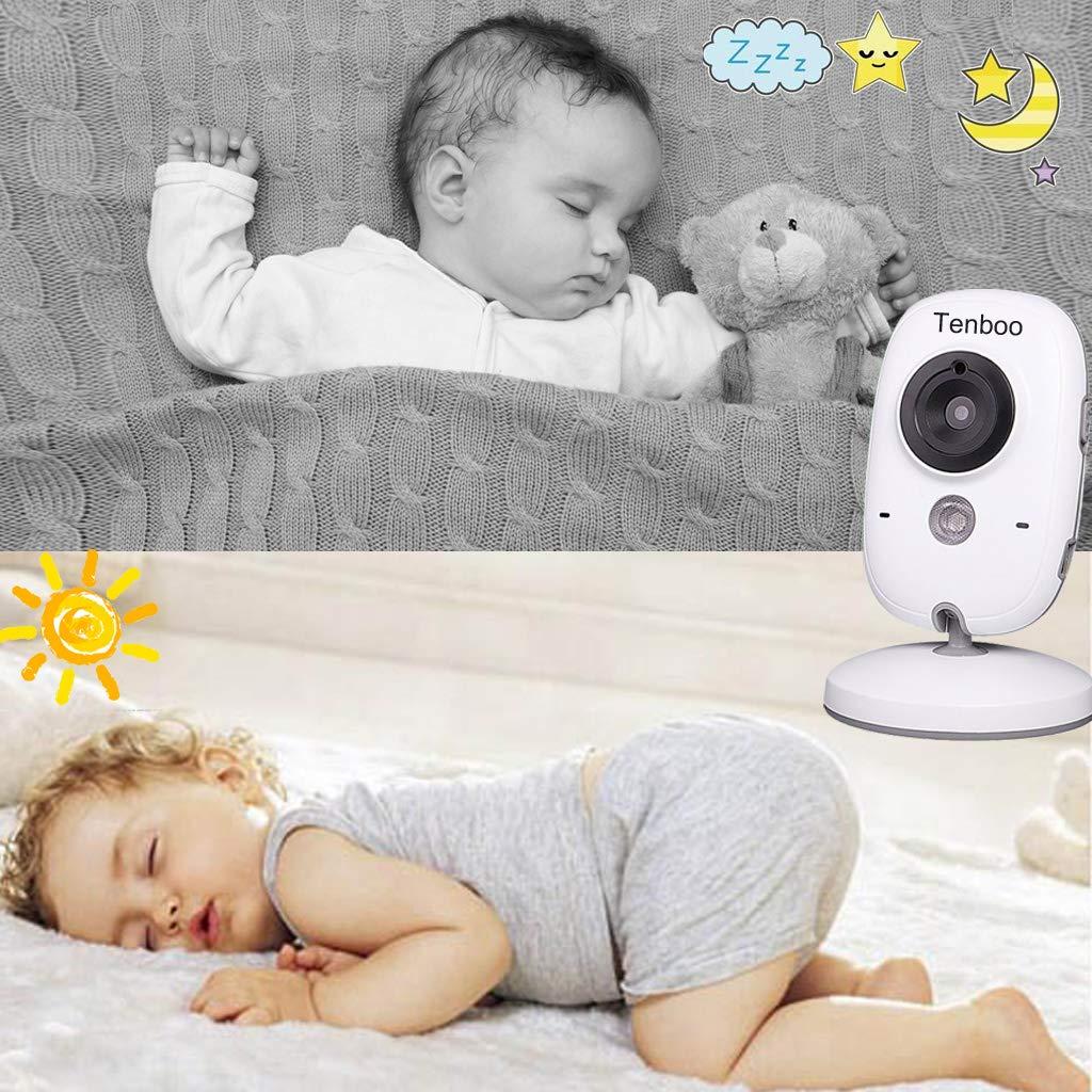 NANAS Vigilabeb/és Inalambrico Beb/é Monitor con c/ámara 3.2LCD visi/ón nocturna sensor de temperatura