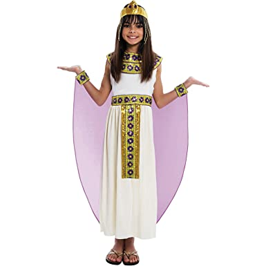 Girls Palamon 5 pc Cleopatra Costume-- Cream Gold u0026 Purple (Small ...  sc 1 st  Amazon.com : cleopatra costume girl  - Germanpascual.Com