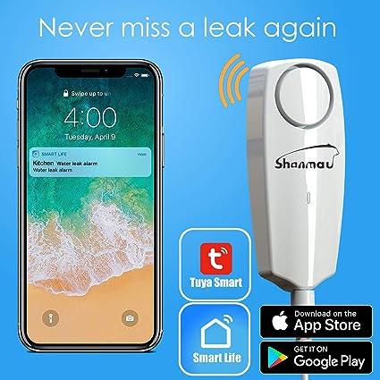 WIFI Water Leak Sensor Water Leakage Intrusion Detector Alert Water Level H7V9