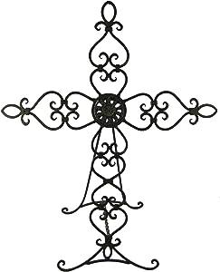 Napco Metal Small 17-1/2-Inch Tall Cross Easel
