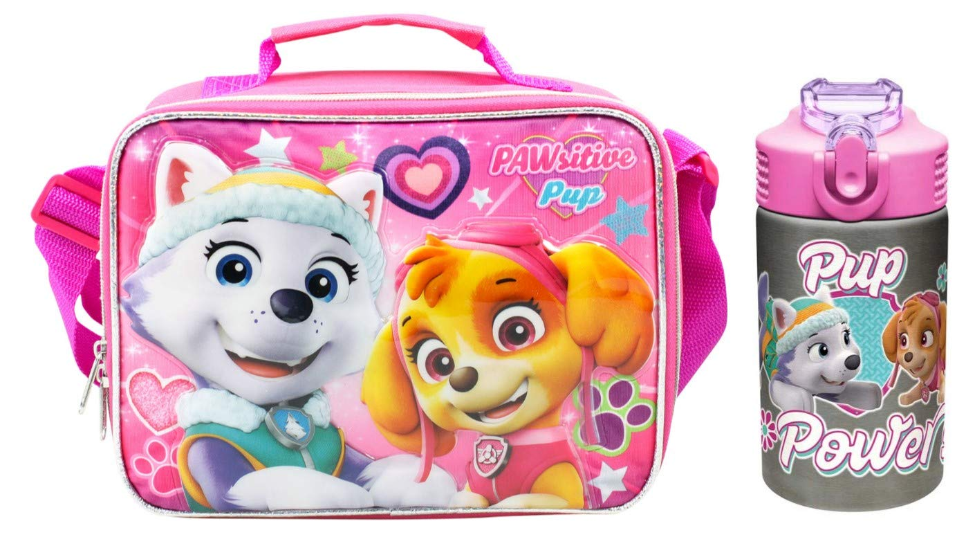 Paw Patrol Skye & Everest Insulated Lunch Tote with Stainless Drink Bottle