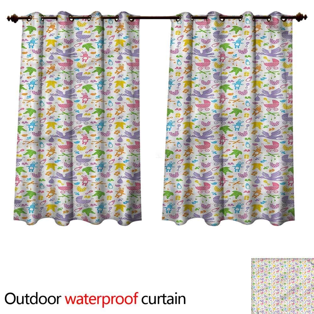 cobeDecor Baby Outdoor Ultraviolet Protective Curtains Newborn Toys Stroller W55 x L72(140cm x 183cm)