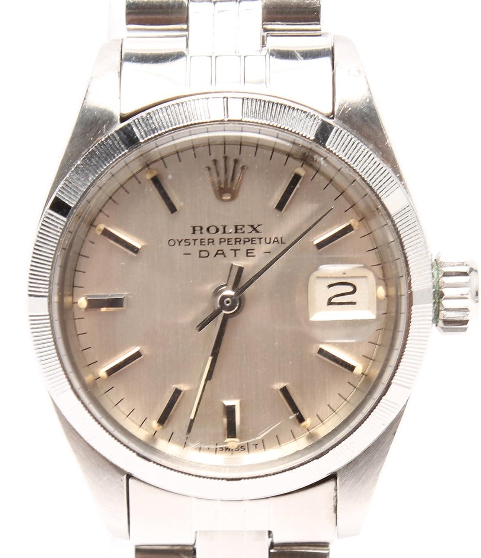 ロレックス 腕時計 オイスターパーペチュアル デイト 6919 自動巻き シルバー ROLEX メンズ 【中古】 B07FK5F79W