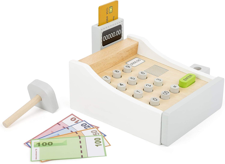 Amazon.es: Small Foot Company Caja registradora de Madera, Incl ...