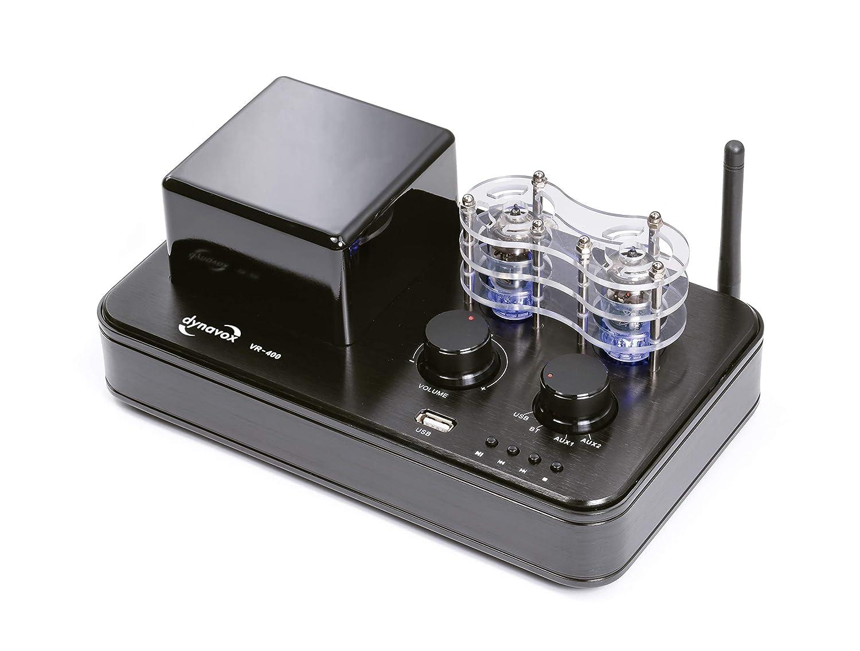 Amplificador híbrido Dynavox VR-400, Tubos con iluminación ...