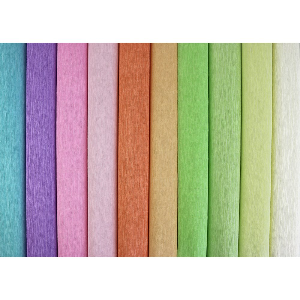 Just Artifacts Premium Crepe Paper Rolls - 8ft Length/20in Width (10pcs, Color: Assorted 2) JustArtifacts.Net 4336867536