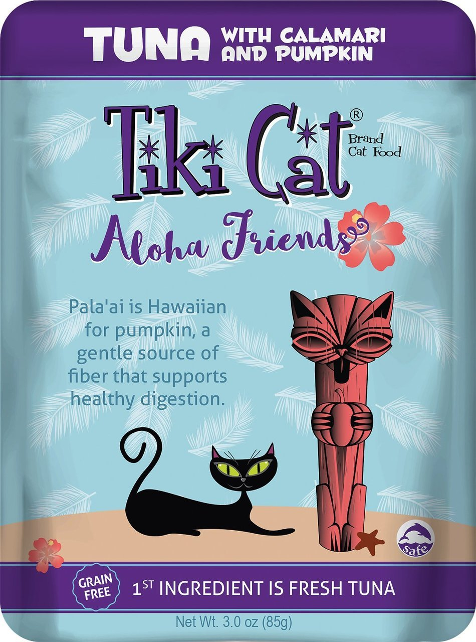 new Tiki Pet Foods Cat Aloha Tuna Cala and Pumpkin Pet Food (12 Pack), 3 oz