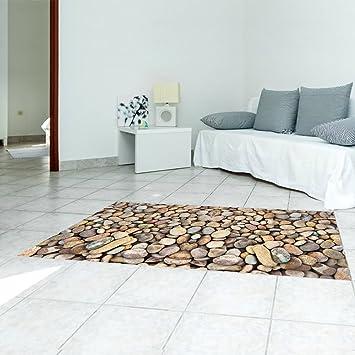Lieblich KKYLOVEJ 3D Kieselsteine Boden Dekorativ Umweltfreundlich PVC Peel U0026 Stick  Wandaufkleber Kunst Abziehbilder Wandgemälde Kreativ Boden