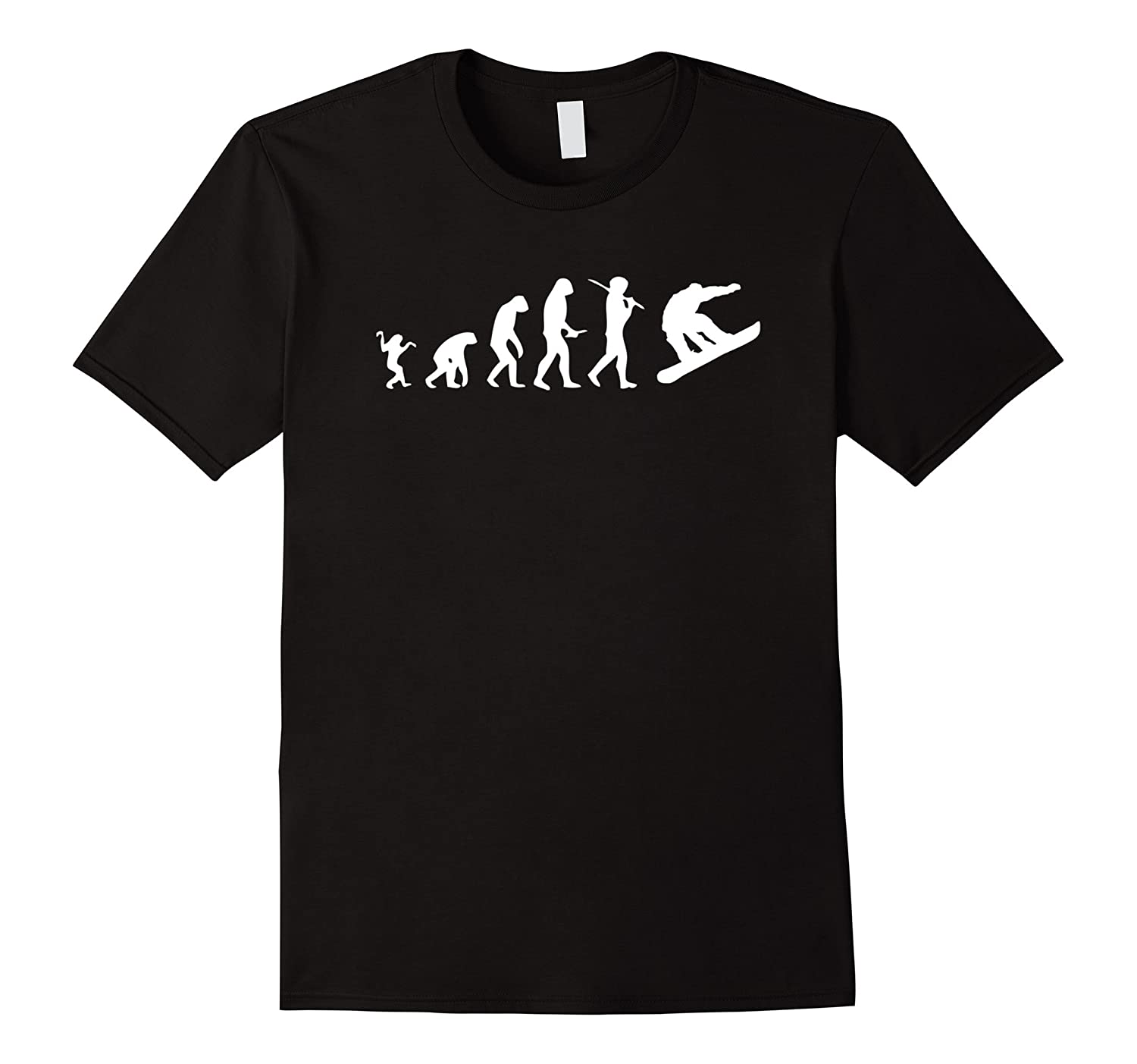 Snowboard Evolution Snowboarding T-shirt Funny Boarding Tee-T-Shirt