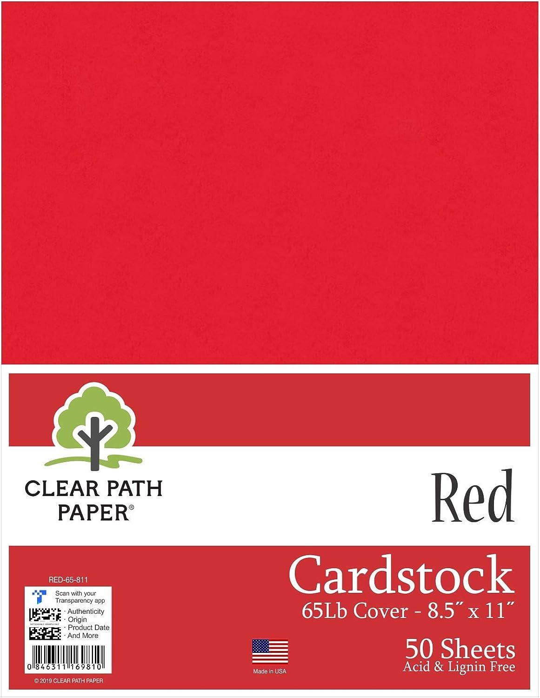 Color rojo cartulina – 8,5 x 11 pulgadas – 65LB Cover: Amazon.es: Juguetes y juegos