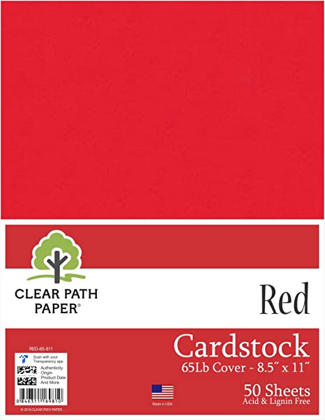 Color rojo cartulina – 8,5 x 11 pulgadas – 65LB Cover: Amazon.es ...