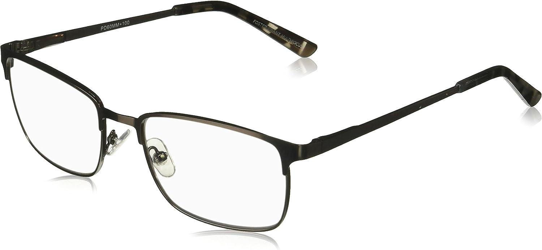 Foster Grant Men's Braydon Multifocus Glasses 1018252-275.COM Rectangular Reading Glasses