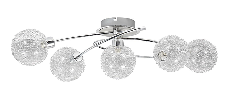 Trango 5-flammig Design Deckenleuchte Badleuchte Flurleuchte Küchenleuchte inkl. 5x Leuchtmittel TG1002-58CH
