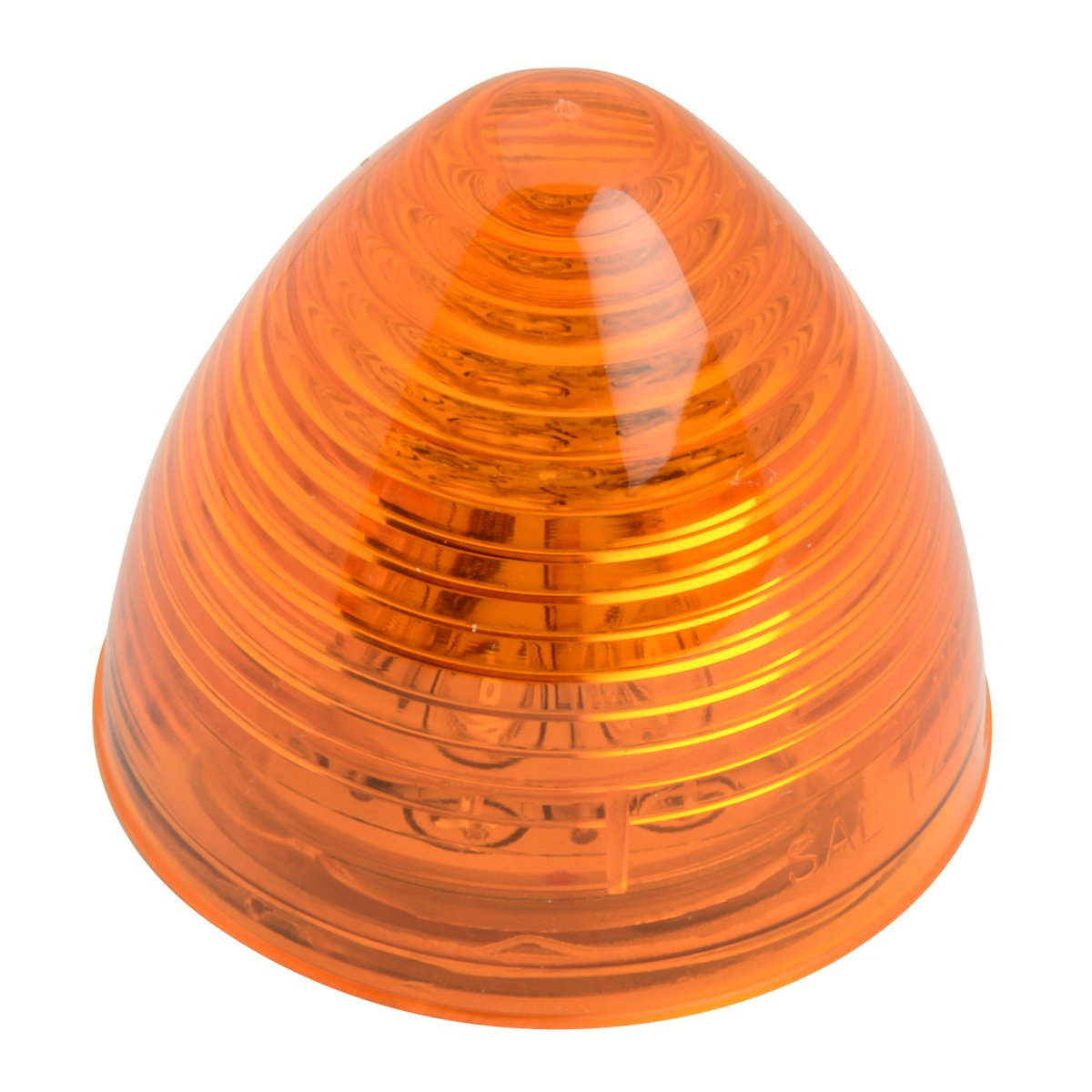 Rim and Pigtail Grand General 81245 2.5 Inch Beehive Amber//Clear LED Light with S.S