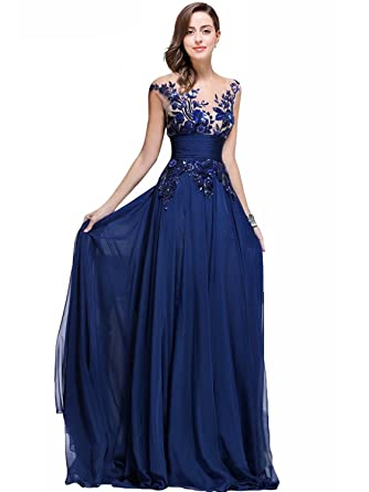 Amazon.com: Babyonlinedress Babyonline Lace Long Prom Dresses 2015 ...