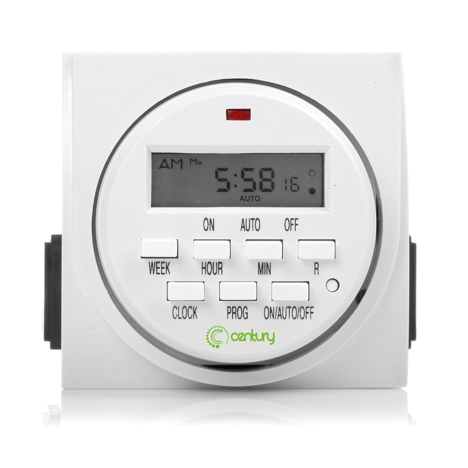 Century 7 Day Heavy Duty Digital Programmable Timer - Dual Outlet (Single Control) by Century
