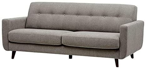 Magnificent Amazon Com Light Grey Sofa Long Couch For 3 Padded Cushions Theyellowbook Wood Chair Design Ideas Theyellowbookinfo