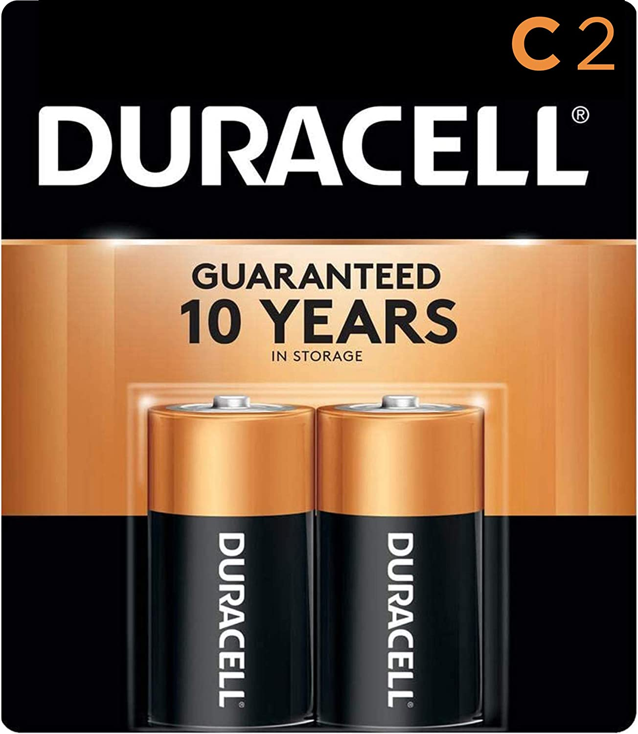 Duracell - CopperTop C Alkaline Batteries with recloseable package - long lasting, all-purpose C battery for household and business - 2 Count: Health & Personal Care