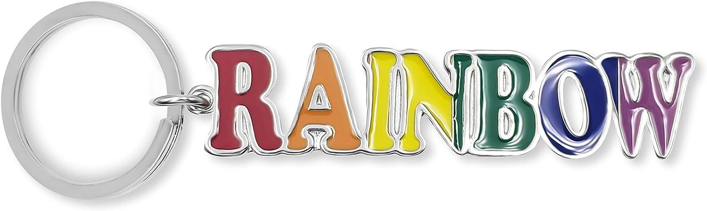 flagsandsouvenirs Keychain Rainbow Name