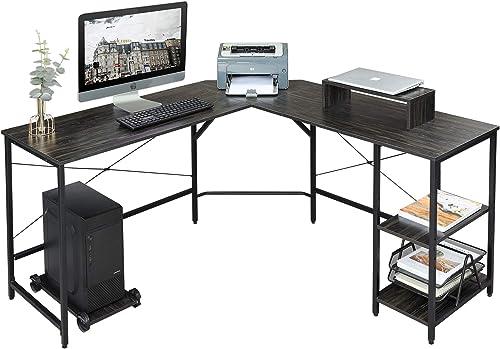 Cheap DEVAISE L Shaped Computer Desk modern office desk for sale