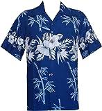 Alvish Hawaiian Shirts Mens Bamboo Tree Print Beach Aloha Party Holiday