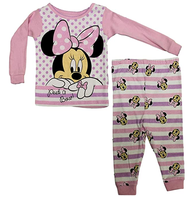Image Unavailable. Image not available for. Color  Disney Baby Girls  Minnie  Mouse Peek A Bow Long Sleeve Pajama ... d36d4349f