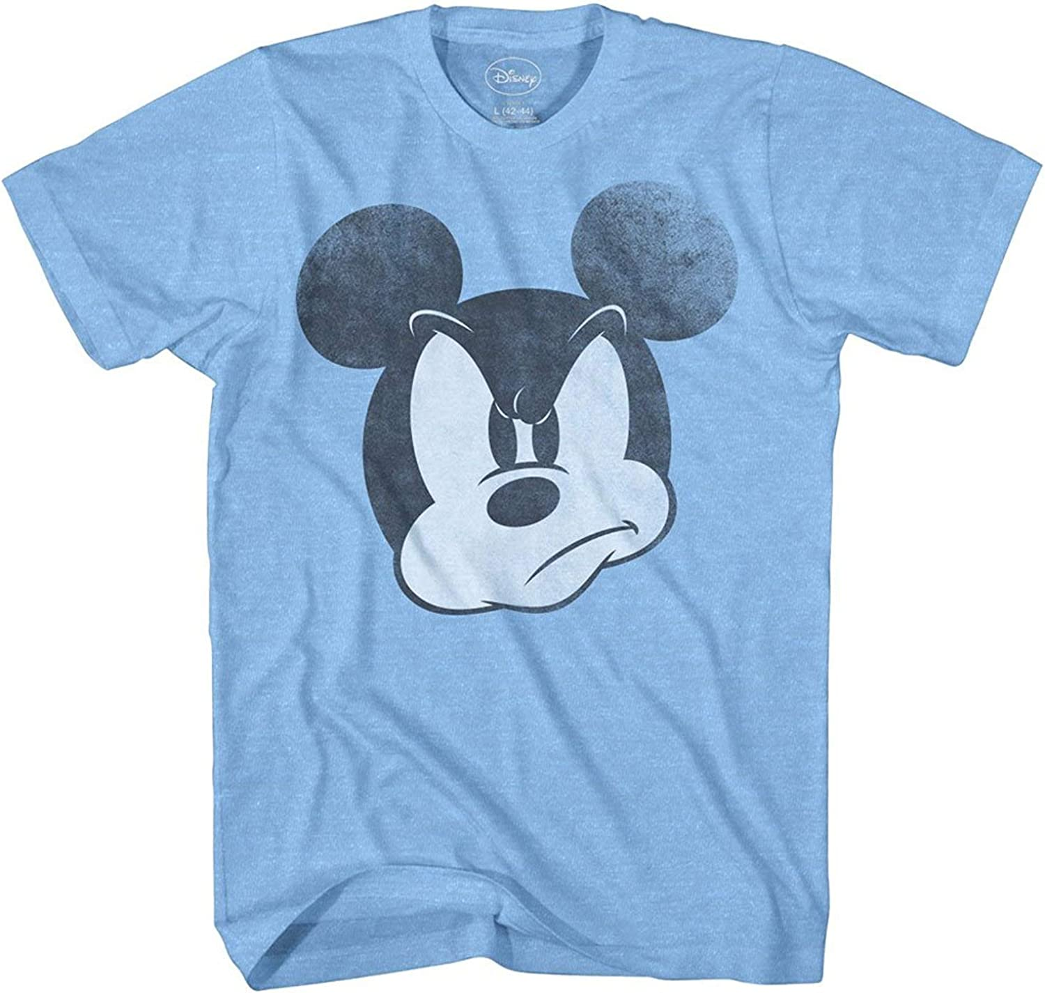 Mad Mickey Mouse Graphic Tee Classic Vintage Disneyland World Mens Adult Tee Graphic T-Shirt for Men Tshirt: Clothing