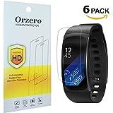 [6Pack] newzerol para Samsung Gear FIT2Pro Protector de pantalla (no cristal), antiarañazos y antihuellas de alta definición Protector de pantalla para Samsung Gear Fit 2Pro [garantía de reemplazo de por vida] -Clear
