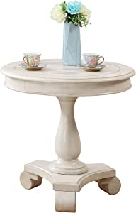 Best Master Furniture Round End Table Round End Table, Beige