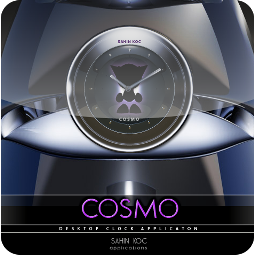 Cosmo Beautiful Clock Widget Theme for Android (Clock Cosmo)