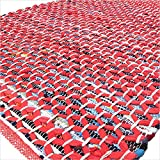 Eyes of India 3 X 5 ft Red Colorful Chindi Woven Rag Rug Bohemian Boho Decorative Indian Review