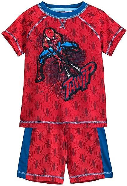 Marvel Spiderman Boys Youth Wall Crawler Superhero Pajama Sleep Shorts