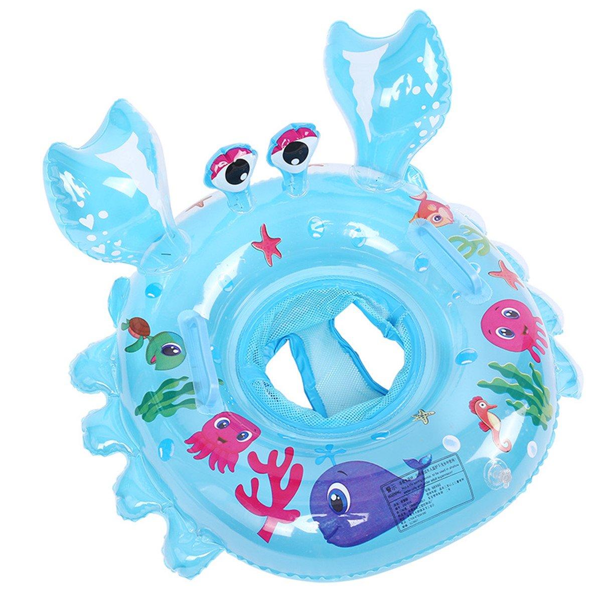 Lianshi Aufblasbarer Krabbe Schwimmreifen 54cm Pool Party Schwimmring aufblasbar Für Kinder Baby (Blau) PXYYQ