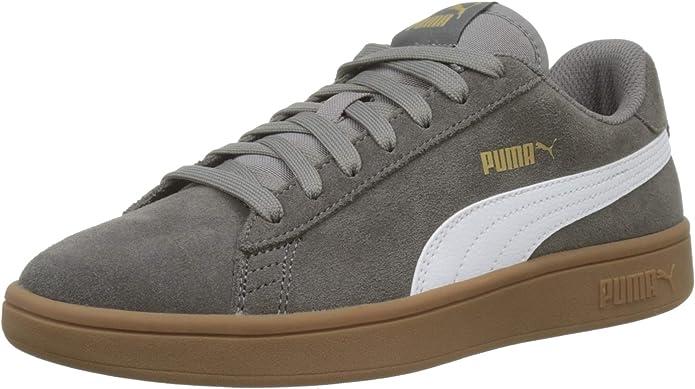 Puma Smash V2 Sneakers Unisex Damen Herren Charcoal Grey Grau/Gummi