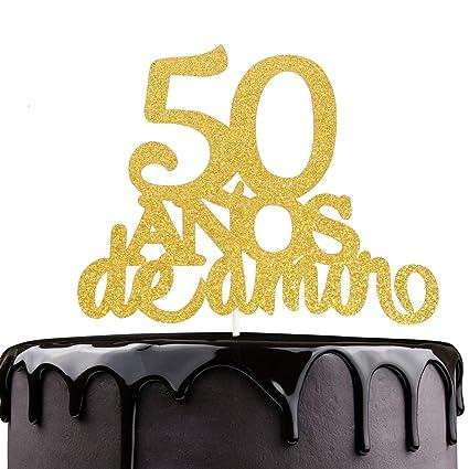 Decoración para tarta de boda de 50 años de Anos de Amor ...