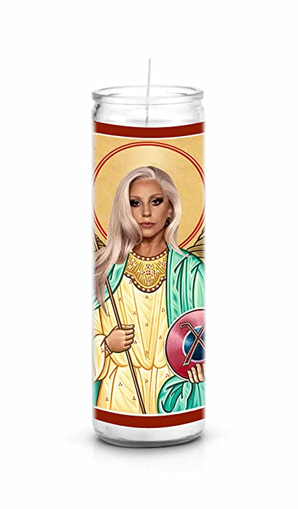 Amazon Com Lady Gaga Celebrity Prayer Candle Funny Saint Candle