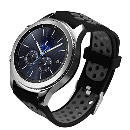 ESeekGo Gear S3 Bands, Silicone Watch Strap for Samsung Gear S3 Frontier/Classic Smart Watch (No Tracker)