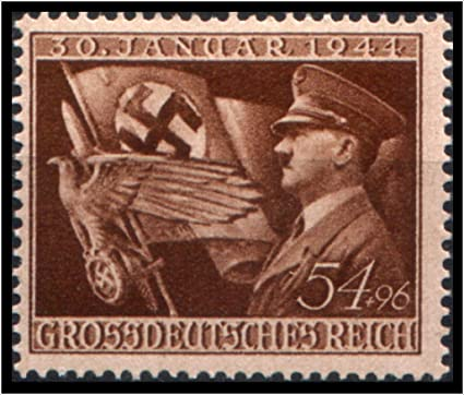 Amazon.com: STRIKING ORIGINAL NAZI STAMP w FLAG and HITLER ...