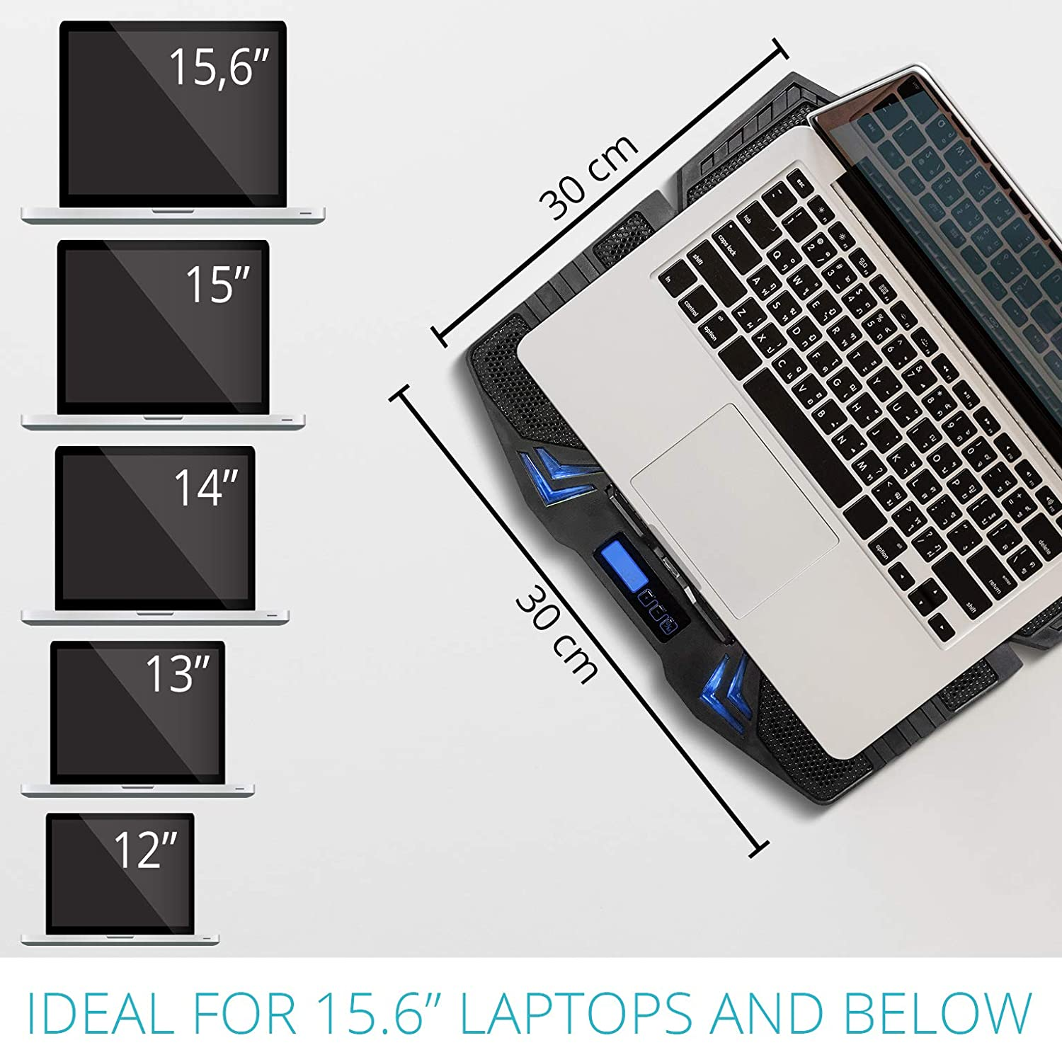 i-Star USB Gaming Laptop Cooler Stand Up to 90010PI Istar Laptop Cooling Pad