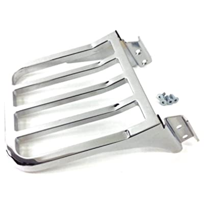 Five Bar Sport Luggage Rack Rear Carrier Chrome For Harley Davidson Softail Heritage Classic Fat Boy Dyna Street Bob Low Rider Sportster XL 1200 883 Iron Low Sissy Bar Upright Backrest HD Ref 53862-00: Automotive