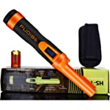 LCD Display Pinpoint Metal Detector Pinpointer - Fully Waterproof with Orange Color Include a 9V Battery,360°Search Treasure